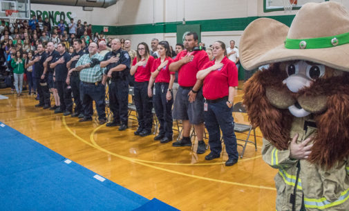 First responders honored at today's Buckaroo pep rally