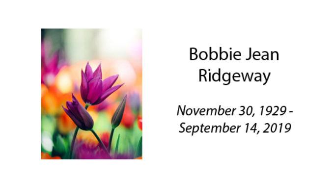 Bobbie Jean Ridgeway