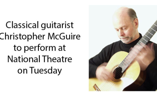 National Theatre to host classical guitarist Christopher McGuire on Tuesday