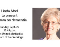 Linda Abel to present program on dementia on Sunday