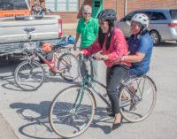 Visiting South Elementary teachers receive bikes to get around Breckenridge