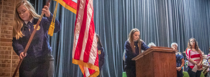 BHS students, faculty join DAR members in Constitution Week celebration