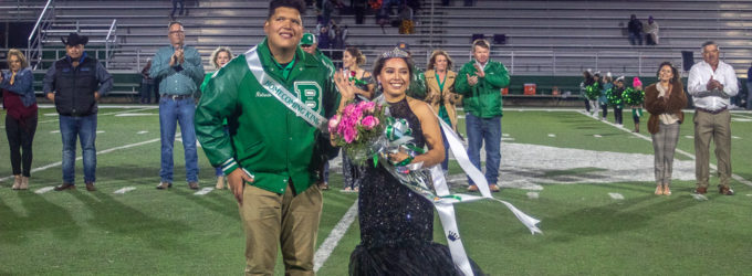 Cynthia Huerta and Rolando Gallegos named BHS Homecoming Queen and King