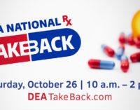 BPD joins DEA for Drug Take Back event on Saturday, Oct. 26