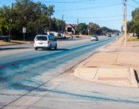 The case of the mysterious blue streak on Walker Street solved