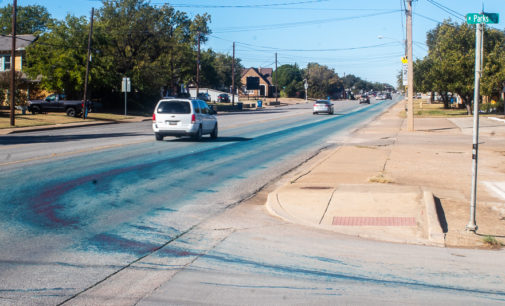 The case of the mysterious blue streak on Walker Street solved