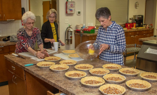 FUMC members bake pies in preparation for annual Turkey Dinner