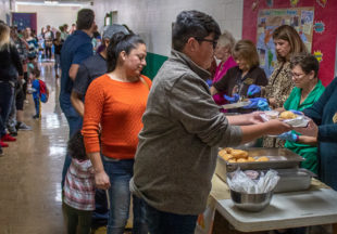 Thanksgiving lunch at North Elementary