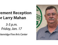 Mahan's retirement reception slated for Friday, Jan. 17