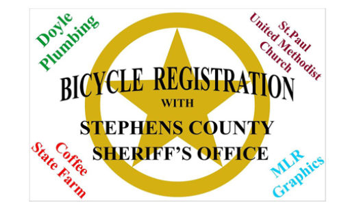 Sheriff's Office to offer bicycle registration on Saturday