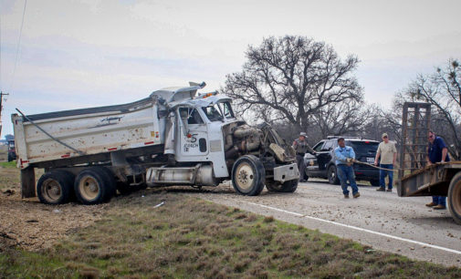 Dump truck driver transported by helicopter following one-vehicle rollover