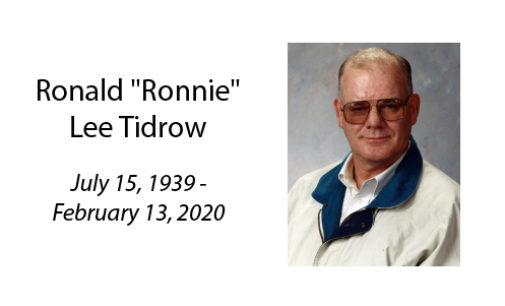 Ronald 'Ronnie' Lee Tidrow