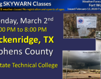 Local Storm Spotter Class scheduled for March 2