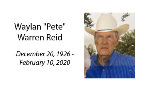 Waylan 'Pete' Warren Reid