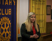Kaitlyn  Crook takes top honors in local Rotary Club speech contest