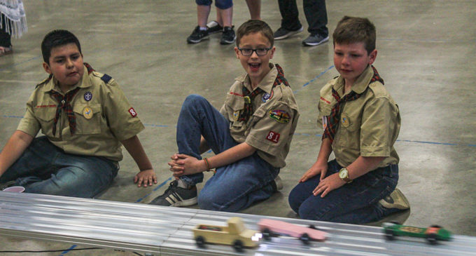 Local Cub Scouts debut new track at this year's Pinewood Derby