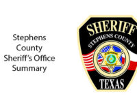Stephens County Sheriff's Office Summary for March 9-28