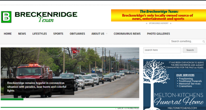 Server issues may cause temporary outages for Breckenridge Texan website