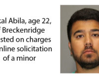 Breckenridge man arrested on Friday on charges of online solicitation of a minor