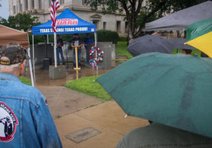 Stephens County residents brave rain to honor local veterans at memorial service