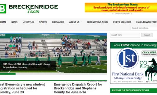 Breckenridge Texan launches Weekly News Roundup newsletter