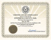 Stephens County Jail passes surprise inspection