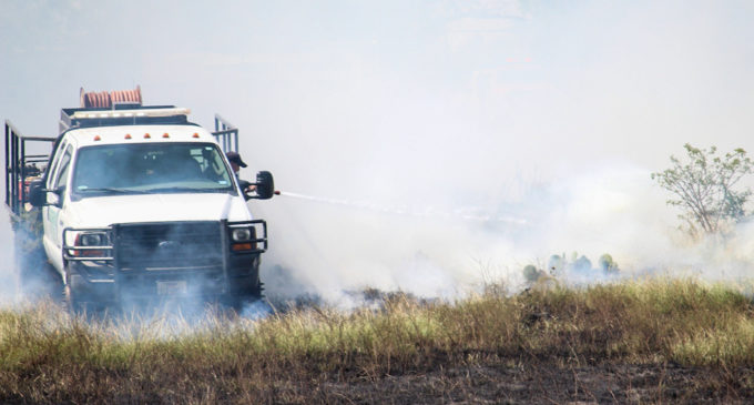 Stephens County firefighters battle wildfires sparked by dry conditions, fireworks