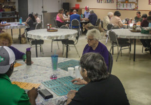 Final bingo game at the City of Breckenridge's Senior Citizens Center