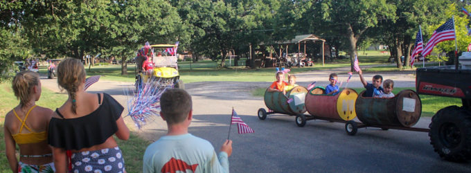 Lakeshore Estates celebrates Independence Day with parade for the Hubbard Creek Lake neighborhood