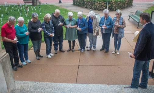 Candlelight vigil at Stephens County Courthouse honors local foster children