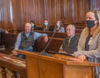County Commissioners honor Begeman, buy road grader