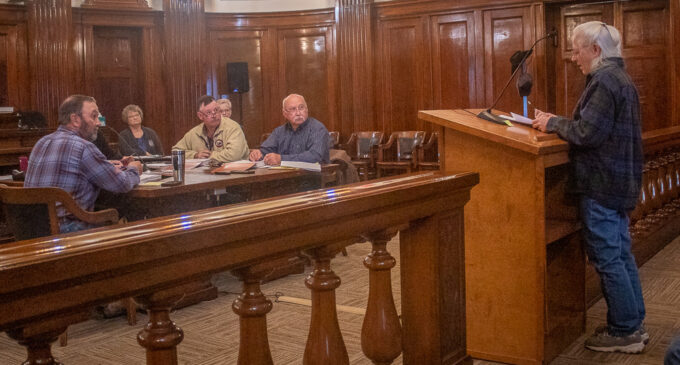 County Commissioners honor Rhonda Peacock, vote to team up with city for 'pothole fixing week'