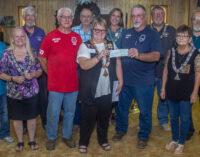 Breckenridge Elks Lodge donates funds to Hubbard Creek Volunteer Fire Department