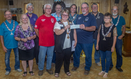 Breckenridge Elks Lodge donates funds to Hubbard Creek Volunteer Fire Department