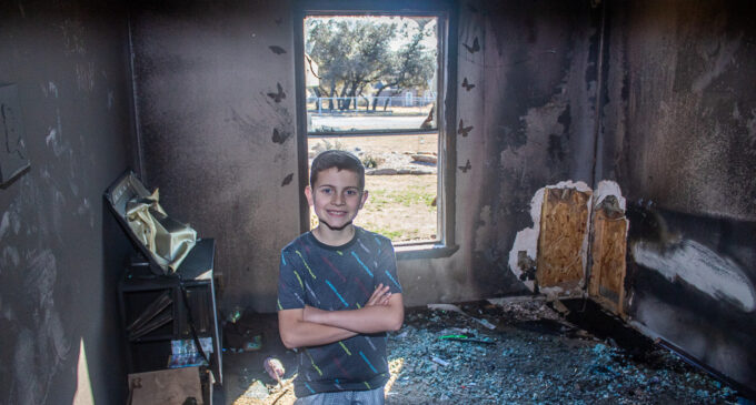 Breckenridge boy's quick action saves family, most of home from fire