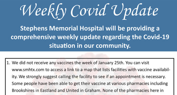 Stephens Memorial launches weekly flyer to provide COVID-19 information update