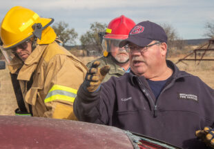 Firefighters practice saving lives