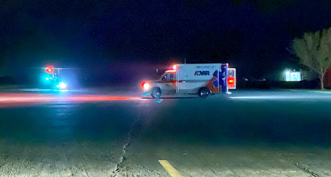 Local man transported by air ambulance following one-vehicle crash on U.S. 183 Highway South