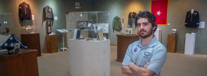 Extensive Military Museum exhibit on display at Breckenridge Fine Arts Center
