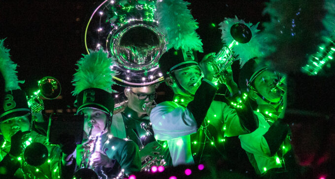 Buckaroo Band entertains audience with annual light show on Friday night