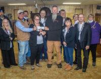 Breckenridge Elks Lodge donates funds to Wayland Volunteer Fire Department, Caddo VFD