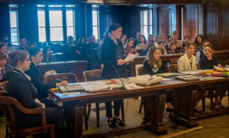 Area homeschool students participate in mock trial at Stephens County Courthouse