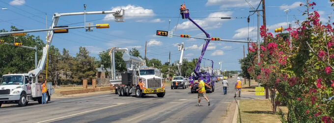 Oversized load makes its way through town