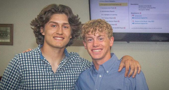 Jonas Arellano and Evan Moore named as 2021 Valedictorian and Salutatorian for Breckenridge High School