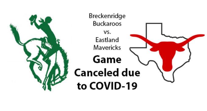 Buckaroo vs. Eastland football games canceled due to COVID-19