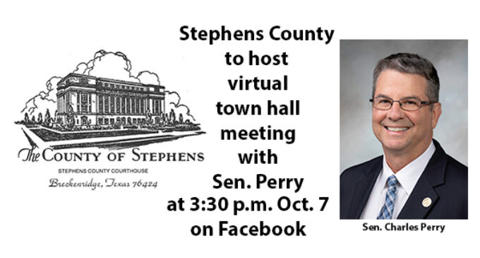 Stephens County to host virtual town hall meeting with Sen. Charles Perry