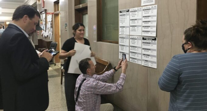 Early Voting totals posted at Stephens County Courthouse