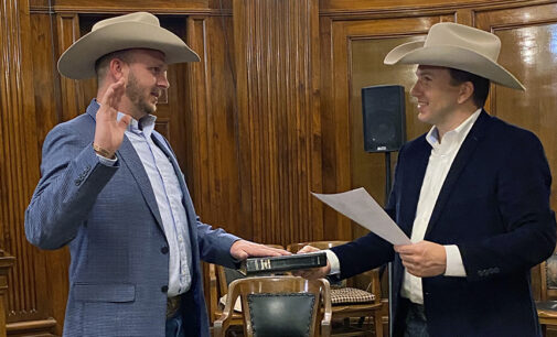 New sheriff, county officials sworn in at midnight Jan. 1
