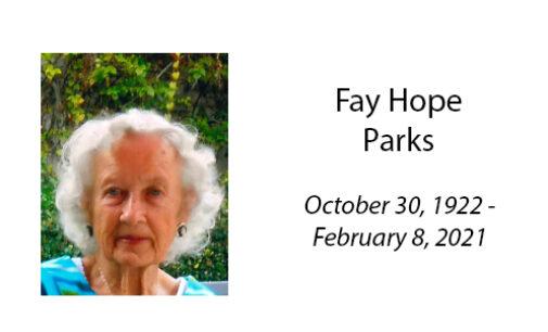 Fay Hope Parks