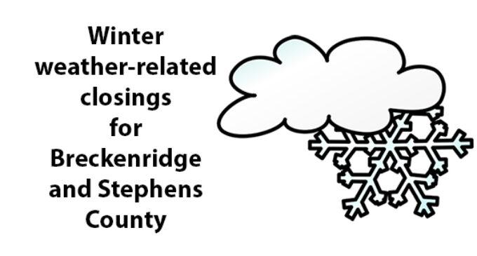 Breckenridge schools close due to winter weather; other delays announced